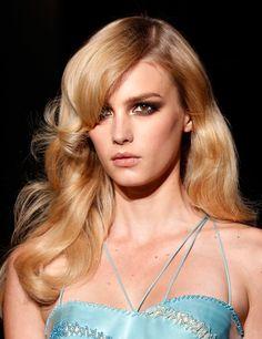 Versace, runway couture, details.