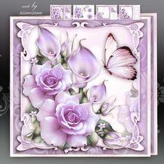 Soft Purple Roses With Callas Mini Kit