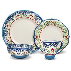 Pfaltzgraff Capri 48-Piece Dinnerware Set, Service for 12
