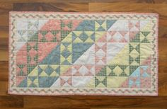 Quilted Table Runner  HandQuilted Shabby by TheLittleQuiltShoppe, $48.00