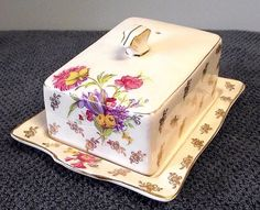 1940's H & K Tunstall Covered Cheese Dish
