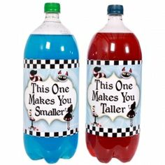 Alice in Wonderland Birthday Decorations | Alice In Wonderland Large Bottle Labels (2), FREE shipping offer, 50% ...