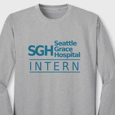 Seattle Grace Hospital INTERN T-shirt TV show Greys Anatomy Long Sleeve Tee in Clothing, Shoes & Accessories, Unisex Clothing, Shoes & Accs, Unisex Adult Clothing   eBay