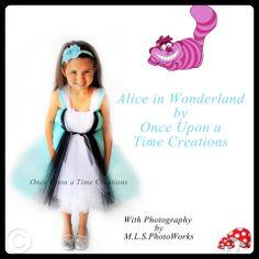 Alice Inspired Princess Tutu Dress - Birthday Outfit, Halloween Costume - 12M 2T 3T 4T 5T - Disney Alice in Wonderland Inspired. $49.99, via Etsy.