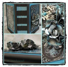 Album x mit kombinierter Bindung (Ribbon-Stick) und Mixed-Media-Cover Ribbon Sticks, Album, Cover, Mixed Media, Crafts, Manualidades, Slipcovers, Mixed Media Art, Craft