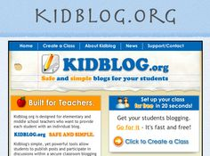 KidBlog.org  Classroom Blogs for Kids. My students ABSOLUTELY love this site and it's great typing practice for the SBAC test. My students are lucky to have a chrome book each. Go Tigers!