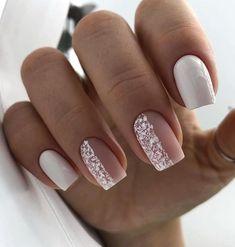 Classy Nails, Stylish Nails, Simple Nails, Cute Nails, Simple Elegant Nails, Milky Nails, Nagellack Design, Square Nail Designs, Gel Nail Designs
