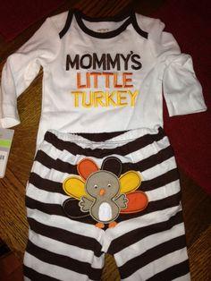 Turkey T-Shirt Romper Festive Threads Unisex Baby Babys First Thanksgiving Pink, 24 Months