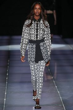 Fausto Puglisi Spring 2015 RTW – Runway – Vogue black and white.