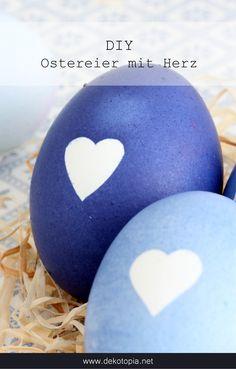 DIY-Anleitung: Eier mit Herzmotiv färben