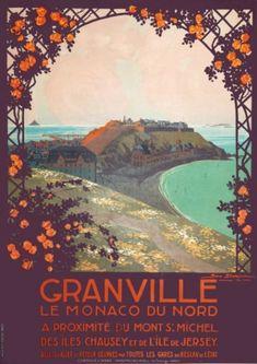 Vintage Travel Poster - Granville, le Monaco du nord - illustration de Géo Dorival - France - 1914.