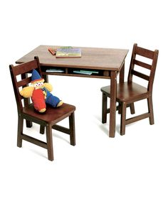 Look what I found on #zulily! Walnut Rectangle Table Set by Lipper International #zulilyfinds