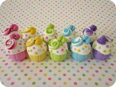 cupcake- polimery clay