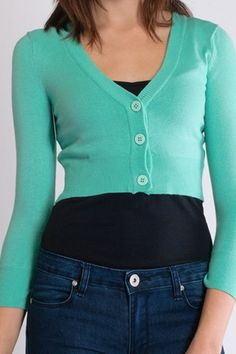 Buy Cropped cardigan in Opalat  Campbell/Crafts Vintage