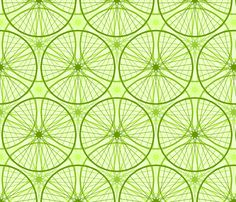 cycling is light on the environment fabric by sef on Spoonflower - custom fabric
