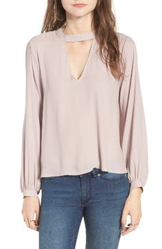 Free shipping and returns on Lush Cutout Blouse at Nordstrom.com. An angular cutout offers a playful flash of skin at the neckline of this beautifully swingy blouse that you can throw on in a rush and instantly look cute.
