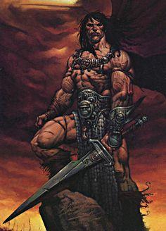 Image about conan in Fantasy 🌿💎🌟🏰 by Meek on We Heart It Dark Fantasy, Sci Fi Fantasy, Conan Comics, Arte Dc Comics, Fantasy Images, Fantasy Artwork, Comic Books Art, Comic Art, Paladin