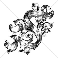 f95661e694b Scroll Floral Filigree Pattern Heraldry Design · GL Stock ... Baroque Design