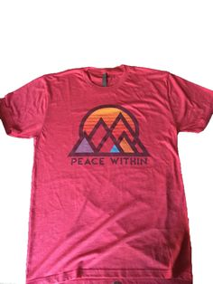 Peace-Within Short Sleeve Tri-blend t shirt red MTN