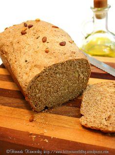 Vegan Mediterranean sprouted quinoa bread