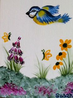 Springtime.  One Stroke Painting by Susan Earl.