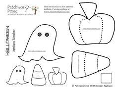 (7) Name: 'Quilting : Halloween Applique Designs