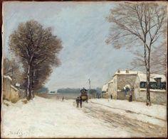 Alfred Sisley (1839-1899) :En hiver, effet de neige (1876) (Musée de Lille)