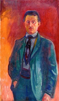 Self-Portrait against Red Background 1906 - Edvard Munch