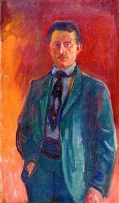 Self-Portrait against Red Background 1906 - Edvard Munch