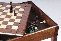 Walnut Player's Chess Table USA