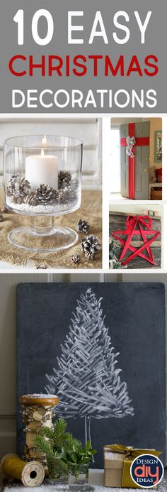 Christmas time is closer than you think! Learn how to make 10 easy Christmas decor ideas that you can make on your own in no time!