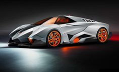 """Car Critics - Take the wings off a jet-fighter, add 4 orange wheels, give it a exotic name with a wacky meaning like """"Selfish"""" and there you have it - The new Lamborghini Egoista... http://www.carcritics.ca/2013/05/lamborghini-egoista-selfish-50th.html"""