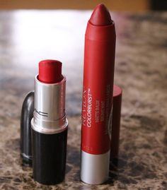 MAC Ruby Woo A12 goes great with MAC Cherry lipliner {One of the best matte red lipsticks} + MAC Ruby Woo + Candy Yum Yum lipstick dupes