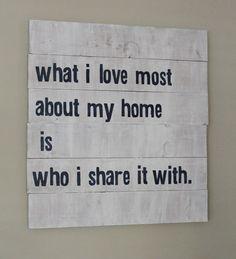 Ten June: Living Room Tweak List: DIY Wall Sign