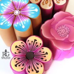 Polymer Clay Canes, Polymer Clay Flowers, My Flower, Flower Power, Sakura Cherry Blossom, Clay Crafts, Online Boutiques, Online Blog, Clay Ideas