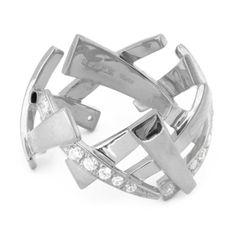 MEHEM silver ring cubic zirconia MH121-JR171-601 #mehem #ring #silver #rhodiumplated #cubiczirconia #em #emgrp