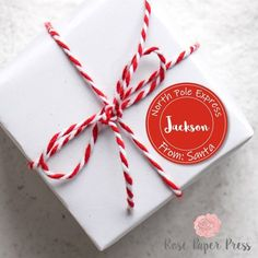 Personalized Santa stickers are perfect for gift wrapping presents from Santa. Stickers are 2 inch in size and ship free. Shop today! Daycare Gifts, Gifts For Coworkers, Christmas Card Pictures, Christmas Photo Cards, Personalized Candy, Personalized Stickers, Volunteer Gifts, Christmas Stickers, Santa Gifts