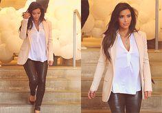 kim kardashian. she has the best style