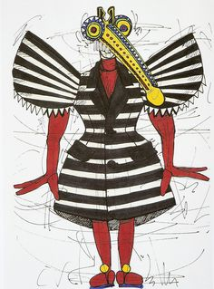 Walter Van Beirendonck illustration 2008 collection