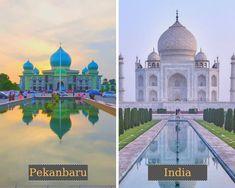 Masjid Agung An Nur di Pekan Baru = Taj Mahal di India #judionline #bandarjudi #bolatangkas #8tangkas #jackpot Atlantis, India, Brazil, Masjid, Taj Mahal, Buddha, Thailand, Paris, Building