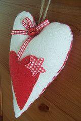 fabric, heart, star