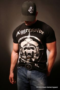 Aggressive Attack Classic Fit Firefighter Tee- Black Helmet Firefighter Apparel