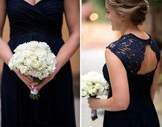 Navy blue bridesmaid dresses, open back bridesmaid dresses, lace bridesmaid dresses, elegant bridesmaid dresses, long wedding guest dresses, NDS255