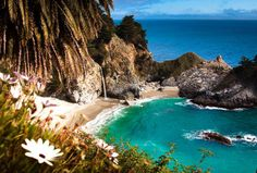 McWay Falls California   waterfall flowing DIRECTLY INTO THE OCEAN. One of the most beautiful places in California, if not the world, this little-known 80ft waterfall and beach located in Julia Pfeiffer Burns State Park isn't far from the road near Big Sur. It may not be the easiest to find, but that's part of what makes it so cool. National Parks, Camping Gear, Outdoor, Outdoors, Camp Gear, Camping Supplies, Outdoor Living, Garden, Camping Equipment