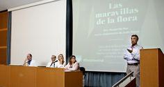 El Dr. Casellas en un momento de su intervención en la presentación De #LasMaravillasDeLaFlora en Hospital Vall d'Hebron, actividad de la celebración del 20º aniversario del VHIR.