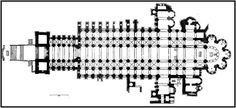 kościół Cluny III - rekonstrukcja (plan) - romanizm