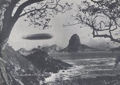 Graf Zeppelin flying over the Baía de Guanabara, Rio de Janeiro, May 25, 1930