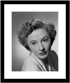 Classic Portrait of Barbara Stanwyck in Close-up Premium Art Print