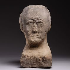 Ancient British Late Iron Age Celtic Stone Carving of a Human Head - 100 BC