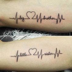 ideas tattoo sister sibling tatoo for 2019 Brother Tattoos, Sibling Tattoos, Matching Sister Tattoos, Couple Tattoos, Tattoo Sister, Cute Sister Tattoos, Twin Tattoos, Small Tattoos, Tatoo Musical